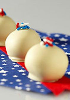 American Spirit OREO Cookie Balls -- This recipe is sure to be the star of the dessert table at your Fourth of July party!