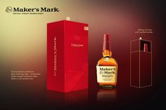 Maker's Mark Whisky Gift Box Concept – Cardboard Box – inspirationpatterns Whiskey Bottle, Vodka Bottle, Embossed Paper, Fun Cooking, Makers Mark, Whisky, Ranch, Concept, Graphic Design