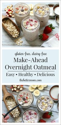 Overnight Oats in a Jar: An Easy Make-Ahead Breakfast! — The Better Mom - Overnight Oats in a Jar: An Easy Make-Ahead Breakfast! — The Better Mom - Overnight Oats With Yogurt, Overnight Oats In A Jar, Chocolate Overnight Oats, Healthy Overnight Oats, Best Overnight Oats Recipe, 21 Day Fix, Snacks Sains, Make Ahead Breakfast, Breakfast Ideas