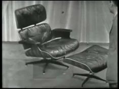 In Charles and Ray Eames unveiled a lounge chair that did something special. It took modern design and made it comfortable. Scandinavian Dining Chairs, Farmhouse Dining Chairs, Leather Dining Room Chairs, White Dining Chairs, Eames Chairs, Upholstered Chairs, Danish Modern, Famous Chair Designs, Beach Lounge Chair