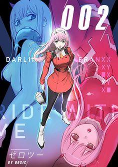 By qosic orders (Darling in the Franxx - Zero Two) Chica Anime Manga, All Anime, Anime Love, Kawaii Anime, Anime Art, Querida No Franxx, Koro Sensei, Nagisa Shiota, Familia Anime