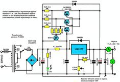 Zasilacz regulowany (darlington power) na - 3 Electronic Circuit Projects, Electronic Engineering, Hobby Electronics, Electronics Projects, Power Supply Design, Circuit Board Design, Electrical Circuit Diagram, Power Supply Circuit, Tatoo
