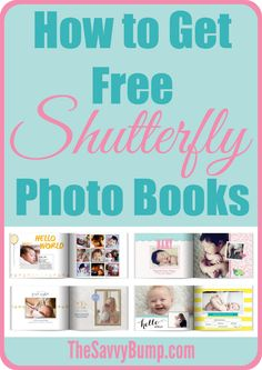 The Savvy Bump has a fantastic round-up posted on How to Get Free Shutterfly Photo Books. If you need or want to make some photo books, you'll definitely want to head over and check out this post.