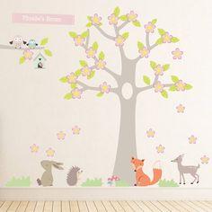 Summer Blossom Tree With Animals