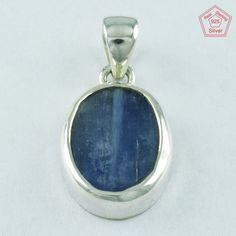 HANDMADE 92.5 SOLID STERLING SILVER KYNITE STONE PENDANT PN4901 #SilvexImagesIndiaPvtLtd #Pendant