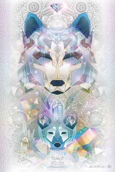 Galactic Wolf | Third Eye Tapestries