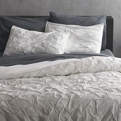 CB2 - $160 - melyssa white king duvet cover