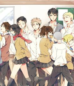 Attack on titan au high school the best thing about this is of