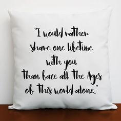 LOTR Romantic Cushion Cover, Lord of The Rings Decor, LOTR Girlfriend Gift Idea in Home, Furniture & DIY, Home Decor, Cushions | eBay