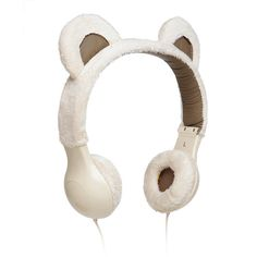 Furry Plush Headphones. NEED!!!! So need headphones!!! There are afreakingdorable! And has Microphone built in too! Need 2 cuz Momo will surely steal one...