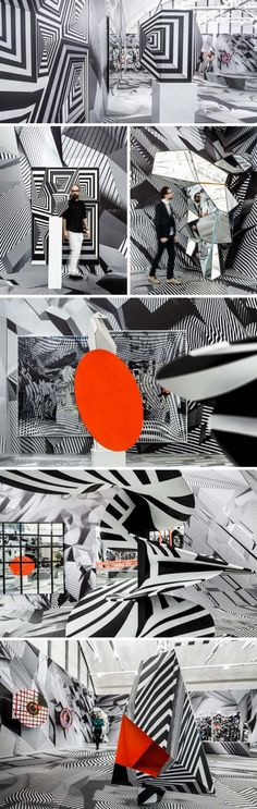 Tobias Rehberger, Home and Away and Outside, optical illusion art installation, Schirn Kunsthalle Frankfurt