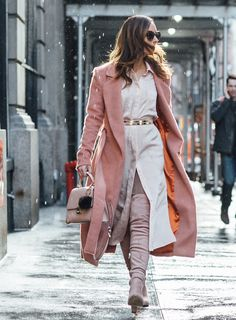 Sydne Style wears Lavish Alice trench coat for new york fashion week street style