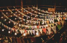 Formal Barn Party - Pennant streamers -- Is that right, pennant? I'm not sure.