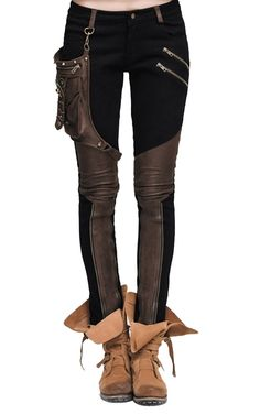 Steampunk Women's Pants & Bloomers Aetherized Steampunk Pants $165.00 AT vintagedancer.com