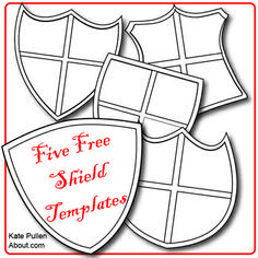 Free shield templates for DIY - who knew shields could be so verstile!: Five Free Shield Templates for Cards and Scrapbook Pages Vbs Crafts, Bible Crafts, Shield Template, Medieval Party, Viking Party, Medieval Crafts, Shield Of Faith, Knight Party, Armor Of God