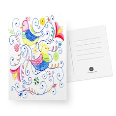 Cartões Ninho em cores do Studio Dutearts por R$ 30,00
