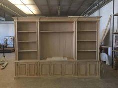 Libreria in rovere:lavorazione. legnoeoltre.altervista.org