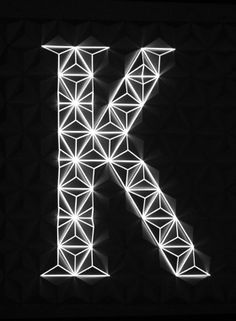 Projection mapping font by Jolien Brands