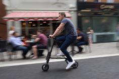 A A-Bike é bicicleta elétrica mais leve e mais compacta do mundo. Seu design telescópico permite que ela possa ser dobrada para caber em qualquer lugar. Ela tem poucos controles, um único interruptor de energia permite aos usuários alternar entre o modo manual ou elétrico auxiliar – não há acelerador. Quando o motor elétrico é ativado, a A-Bike pode chegar a 20 km/h, com uma autonomia máxima de 25 km.