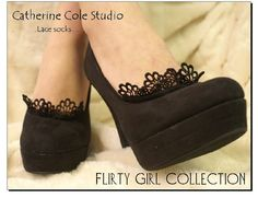Lace socks for heels Flirty Footlet  lace by CatherineColeStudio, $10.50