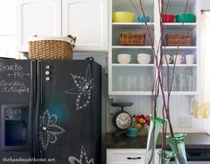 Chalkboard Paint Ideas plus how to make your own Chalkboard paint - in colors!