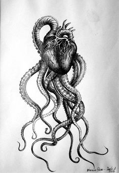 """for tattoo leg octopus tat - 39 ideas for tattoo leg octopus tat ideas for tattoo leg octopus tat - 39 ideas for tattoo leg octopus tat - """"Tentacle Heart"""" Drawn by the talented Sickest tattoo ever Octopus. Octopus Tattoo Design, Octopus Tattoos, Octopus Art, Leg Tattoos, Body Art Tattoos, Sleeve Tattoos, Cool Tattoos, Tattoo Designs, Tattoo Ideas"""