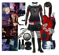 """Vampire Kisses - Raven Madison"" by octoburfrost ❤ liked on Polyvore featuring Forever 21, Nana', Topman, Burton, GAB, EMILY THE STRANGE and Zara"