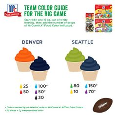Support your team in the Big Game by bringing your colors on the table!