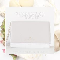 GIVEAWAY TIME!! Its time to celebrate the Elizabeth Moore Photography re-brand launch coming this Wednesday! I will be announcing the winner of this adorable Kate Spade cross body this Friday July 29th at 9pm est!  Rules :: 1. Anyone can enter! 2. You must follow @emoorephotography 3. You must like this post 4. You must tag 5 friends who would want this bag as much as you do!  This promotion is not associated with instagram.