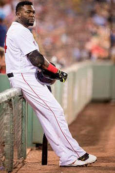 David Ortiz of the Boston Red Sox waits on deck during the sixth inning of a game against the Chicago White Sox on June 22 2016 at Fenway Park in...