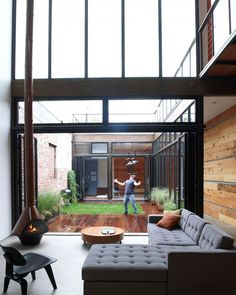 Atrium House  Designed by MESH Architectures  Williamsburg, Brooklyn