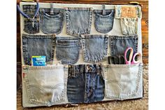 11 Stylish Ways to Repurpose Old Jeans into Home Decor: No-Sew Denim Wall Storage