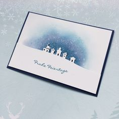 features Stampin Up's Sleigh Ride edgelits from the 2015 Holiday catalog; Christmas Card by Katharina