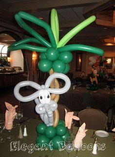 Balloon elephant centerpiece. #balloon-elephant-centerpiece #balloon elephant #balloon-elephant