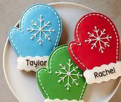 Christmas Mitten Cookies Edibles Baked Goods Cookies Holiday Cookies – My Favorite Christmas Sugar Cookies, Christmas Sweets, Noel Christmas, Christmas Goodies, Holiday Cookies, Christmas Baking, Christmas Cookie Cutters, Holiday Desserts, Iced Cookies