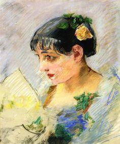 The Athenaeum - GONZALES, Eva French Impressionist (1849-1883)_Spanish Woman - circa 1882-1883