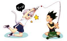 Killua & Gon bffs | lol is Killua part cat