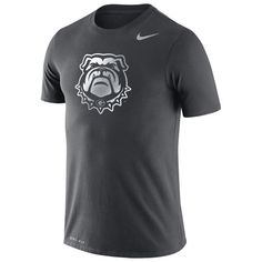 Georgia Bulldogs Nike Performance Cotton Travel T-Shirt - Anthracite - $33.99