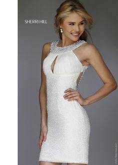 Sherri Hill 11279 Pearl Beaded Cocktail Dress