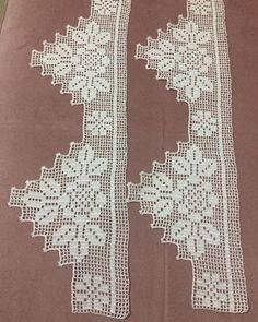 Crochet Blanket Border, Crochet Edging Patterns, Crochet Lace Edging, Crochet Borders, Filet Crochet, Baby Knitting Patterns, Crochet Designs, Crochet Curtains, Crochet Bedspread