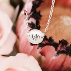 Dainty Wedding Bracelet Silver, I Do Bracelet, Something New, Hand Stamped Wedding Jewelry Sterling