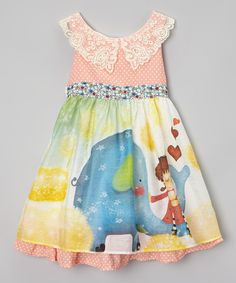 Look at this FruitFactory Pink Elephant Dress - Girls on #zulily today!