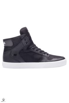 Buty Supra Vaider High Tops, High Top Sneakers, Adidas Sneakers, Black And White, Shoes, Fashion, Adidas Tennis Wear, Black White, Blanco Y Negro