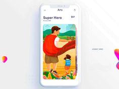 그날그날 UI 디자인 & UX 디자인 아이디어 by Drag down to add to cart the painting i. Ios App Design, Mobile Ui Design, Ui Animation, Ui Design Inspiration, Design Ideas, Mobile App Ui, Ui Web, Best Web Design, Creative Portfolio