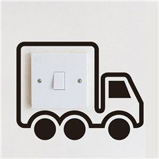 Creative Little Truck Light Switch Removable Wall Sticker Simple Wall Paintings, Creative Wall Painting, Wall Painting Decor, Diy Painting, Creative Walls, Funny Wall Art, Diy Wall Art, Diy Wall Decor, Paint Designs