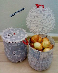 Onion and potato boxes from pet bottle bins. - do it yourself Plastic Bottle Crafts, Recycle Plastic Bottles, Potato Box, Produce Bags, Pet Bottle, Preschool Crafts, Diy Kitchen, Diy Home Decor, Diy And Crafts