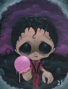 Title: No Mere Mortal Can Resist Artist: Sugar Fueled Made-to-order Giclee fine art reproductions on canvas featuring the original artwork. Weird Drawings, Michael Jackson Thriller, Kawaii Halloween, Goth Art, Creepy Cute, Big Eyes, Art Images, Canvas Art Prints, Art Reproductions