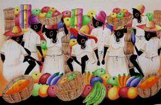 Pinturas Naif Dominicanas Haitianas (Cuadros) a ARS 590  en  PrecioLandia Argentina (7yier6)