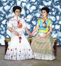 Dialogue with Myself 2 (from An Inner Dialogue with Frida Kahlo) by Yasumasa Morimura