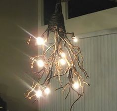 DIY branch chandelier complete with wiring instructions!